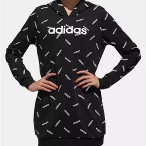 Adidas Logo Long Hoodie Sweatshirt